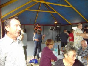 ambiance in de tent